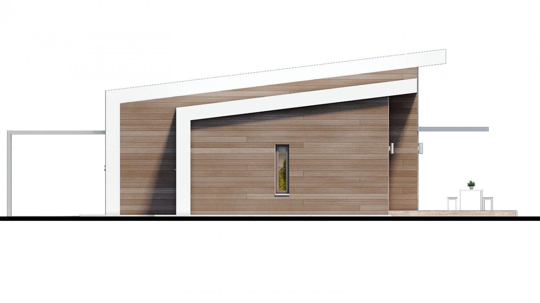 Pohľad 3. - Moderný 4-izbový projekt domu.