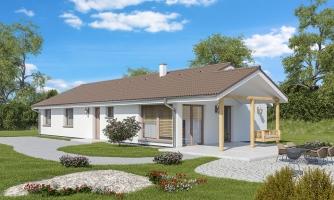 Top projekt 2019 rodinného domu so sedlovou strechou, spracovaný vo virtuálnej realite so zariaďovaním, realizácia drevostavby na kľúč