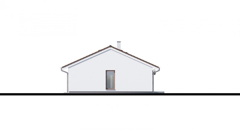 Pohľad 4. - Top projekt 2019 rodinného domu so sedlovou strechou, spracovaný vo virtuálnej realite so zariaďovaním