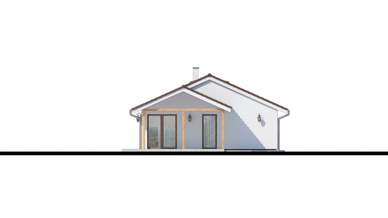 Pohľad 2. - Top projekt 2019 rodinného domu so sedlovou strechou, spracovaný vo virtuálnej realite so zariaďovaním
