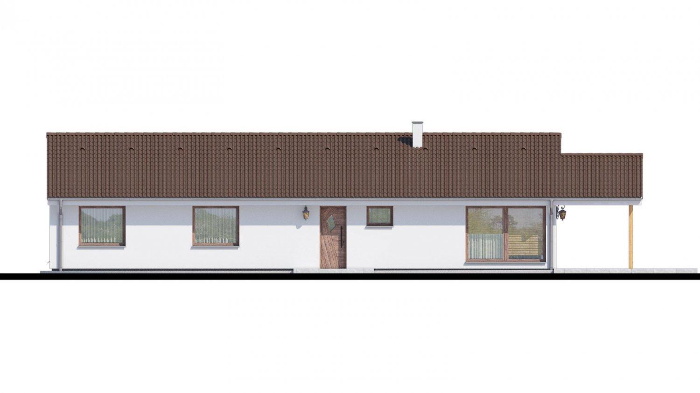 Pohľad 1. - Top projekt 2019 rodinného domu so sedlovou strechou, spracovaný vo virtuálnej realite so zariaďovaním