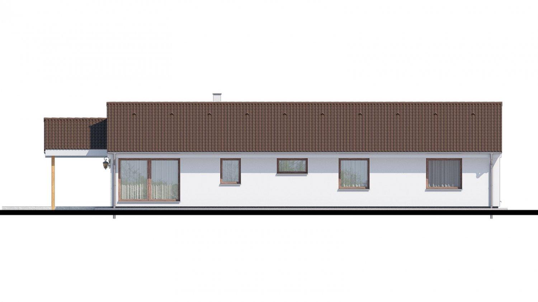Pohľad 3. - Top projekt 2019 rodinného domu so sedlovou strechou, spracovaný vo virtuálnej realite so zariaďovaním