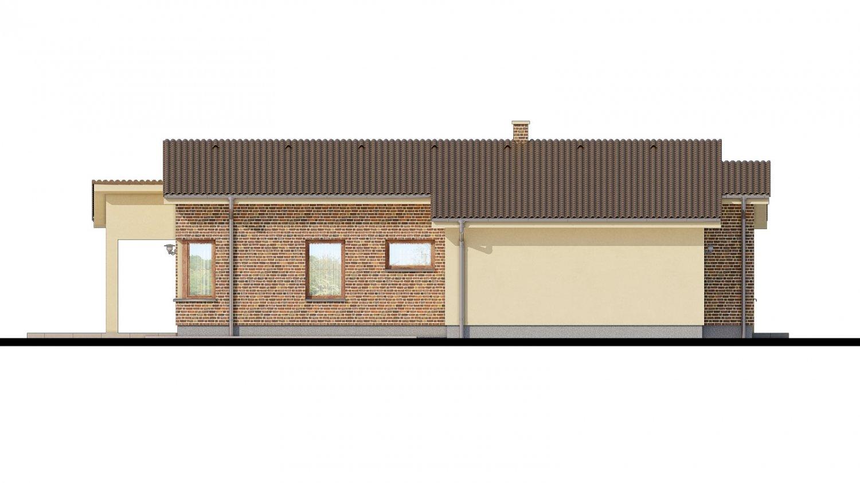 Pohľad 4. - Dom s pultovými strechami