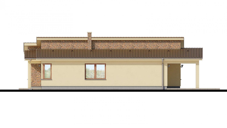 Pohľad 2. - Dom s pultovými strechami