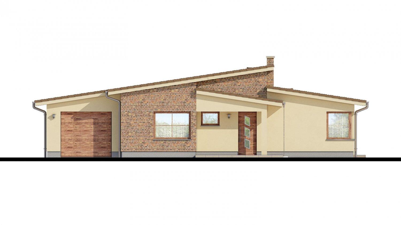 Pohľad 1. - Dom s pultovými strechami