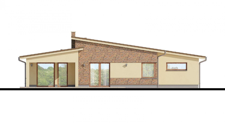 Pohľad 3. - Dom s pultovými strechami