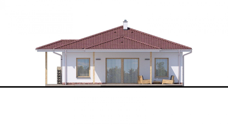 Pohľad 2. - Jednoduchý dom s valbovou strechou. Spracovaný aj v 3d realite.