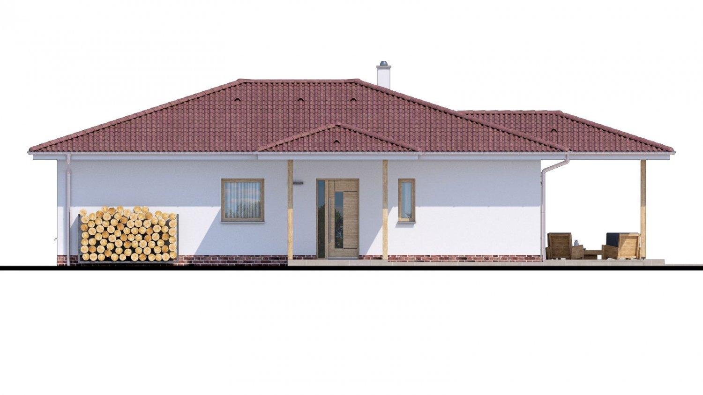 Pohľad 1. - Jednoduchý dom s valbovou strechou. Spracovaný aj v 3d realite.