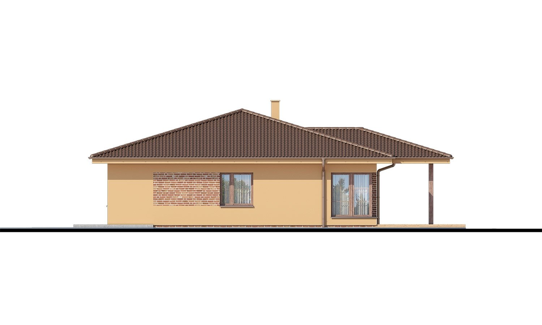 Pohľad 2. - 5-izbový bungalov. Top projekt roku 2019.