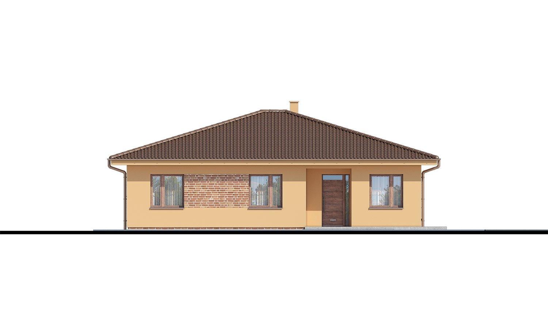 Pohľad 1. - 5-izbový bungalov. Top projekt roku 2019.