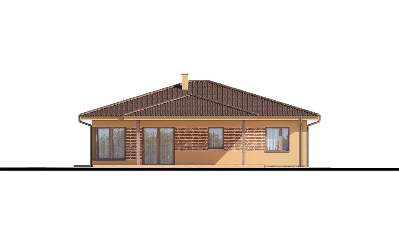 Pohľad 3. - 5-izbový bungalov. Top projekt roku 2019.