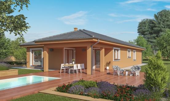 projekt domu BUNGALOW 180