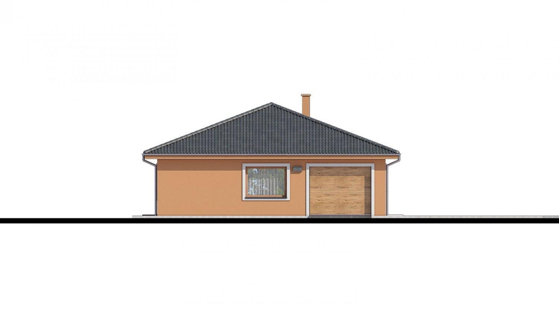 Pohľad 4. - Projekt domu na užší pozemok.