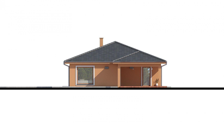 Pohľad 2. - Projekt domu na užší pozemok.