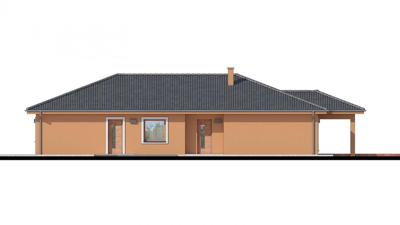 Pohľad 1. - Projekt domu na užší pozemok.