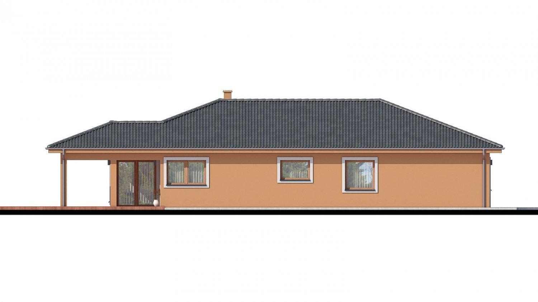 Pohľad 3. - Projekt domu na užší pozemok.