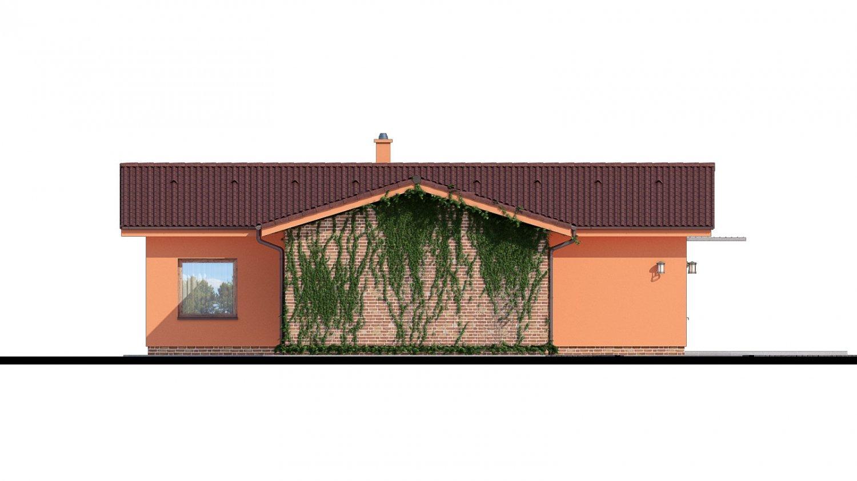Pohľad 4. - Bungalov so sedlovými strechami.