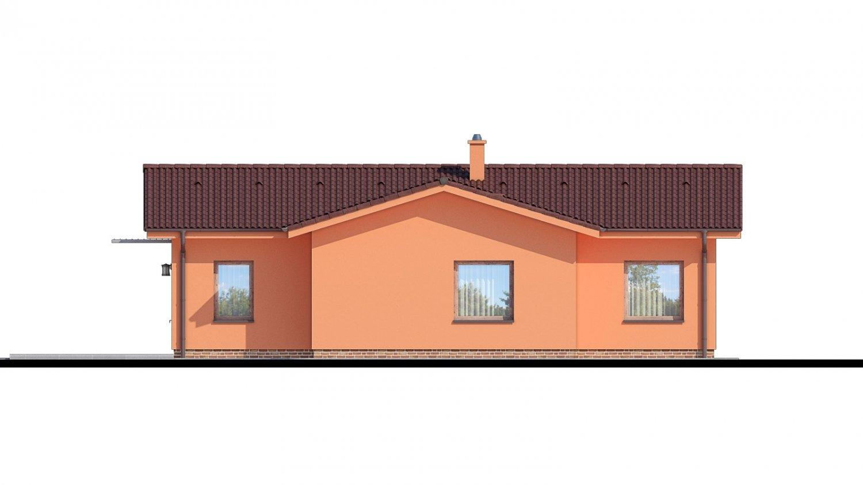Pohľad 2. - Bungalov so sedlovými strechami.