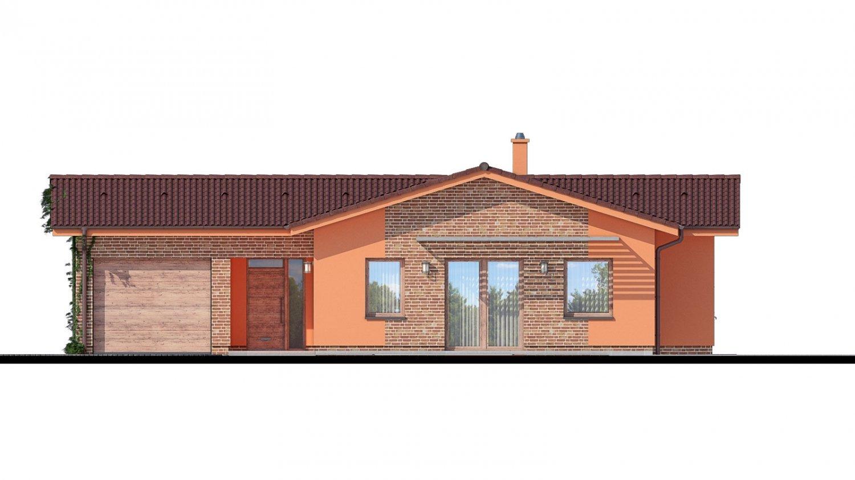 Pohľad 1. - Bungalov so sedlovými strechami.