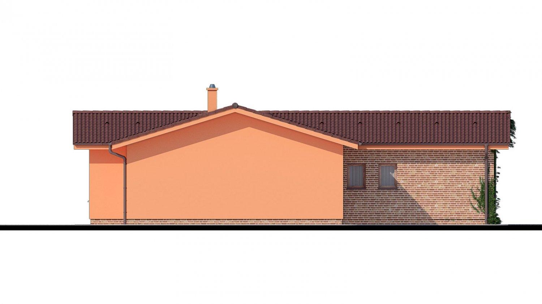 Pohľad 3. - Bungalov so sedlovými strechami.