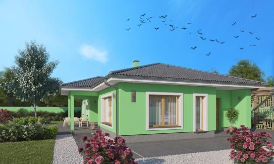 projekt domu BUNGALOW 182