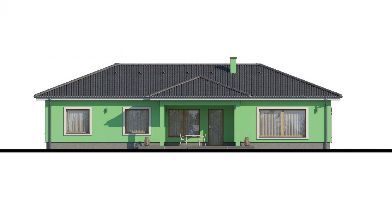 Pohľad 4. - Projekt domu s átriom.