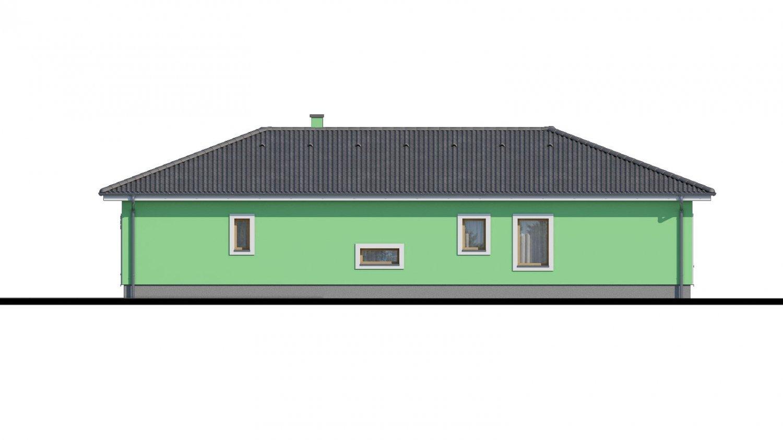 Pohľad 2. - Projekt domu s átriom.