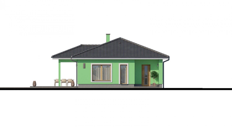 Pohľad 1. - Projekt domu s átriom.