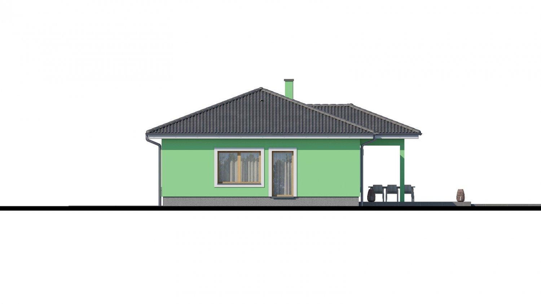 Pohľad 3. - Projekt domu s átriom.