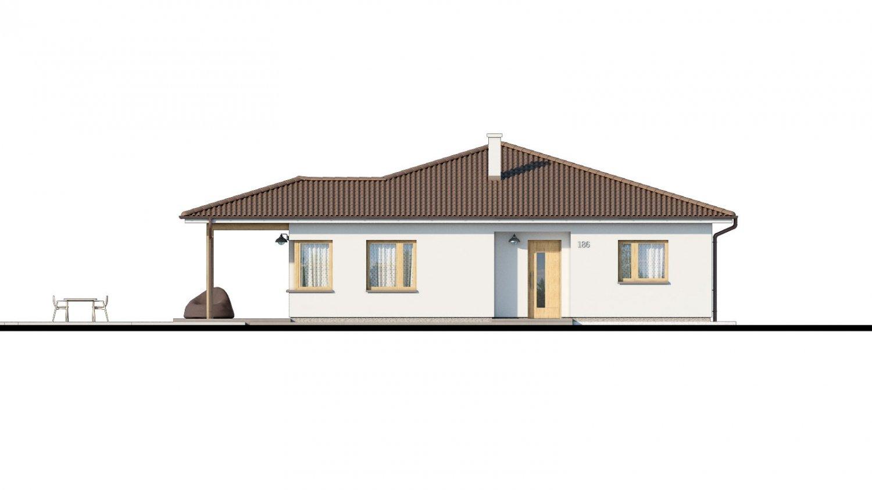 Pohľad 1. - Pekný 5-izbový rodinný dom s terasou.