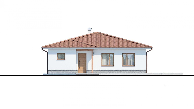 Pohľad 1. - Klasický bungalov s malým sklonom strechy.