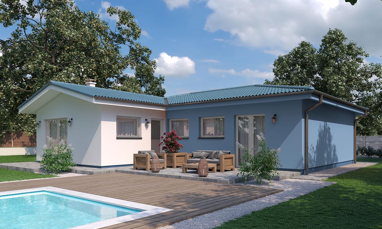 projekt domu BUNGALOW 191