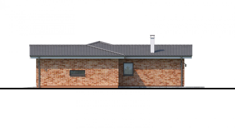 Pohľad 2. - Projekt domu do L s garážou