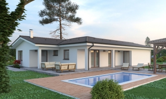 Dom s dvojgarážou a terasami