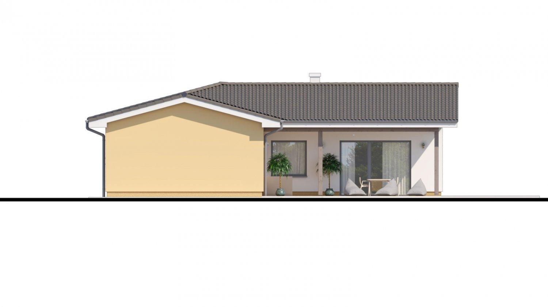 Pohľad 3. - Veľký dom do tvaru L s množstvom úložného priestoru.