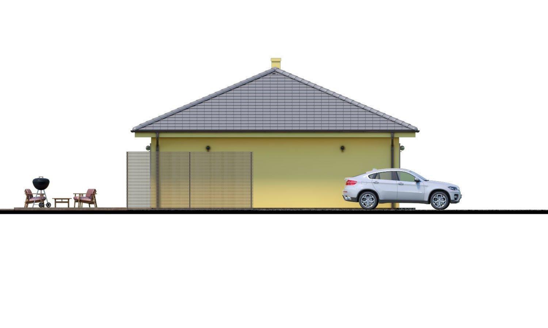 Pohľad 4. - Krásny 4-izbový murovaný dom s valbovou strechou. Má oddelenú dennú a nočnú časť.