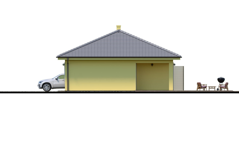 Pohľad 2. - Krásny 4-izbový murovaný dom s valbovou strechou. Má oddelenú dennú a nočnú časť.