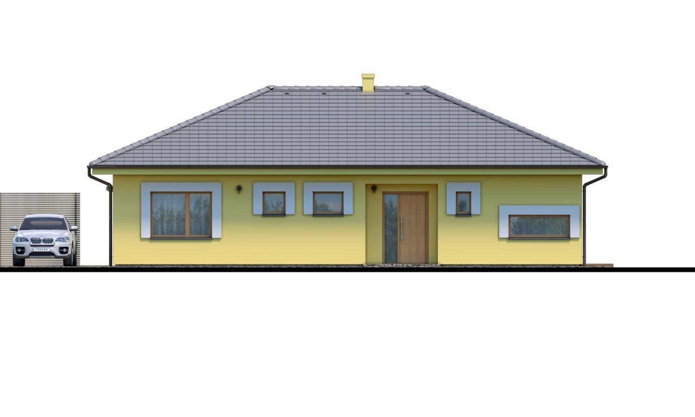 Pohľad 1. - Krásny 4-izbový murovaný dom s valbovou strechou. Má oddelenú dennú a nočnú časť.