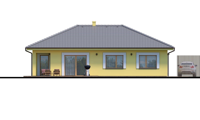 Pohľad 3. - Krásny 4-izbový murovaný dom s valbovou strechou. Má oddelenú dennú a nočnú časť.
