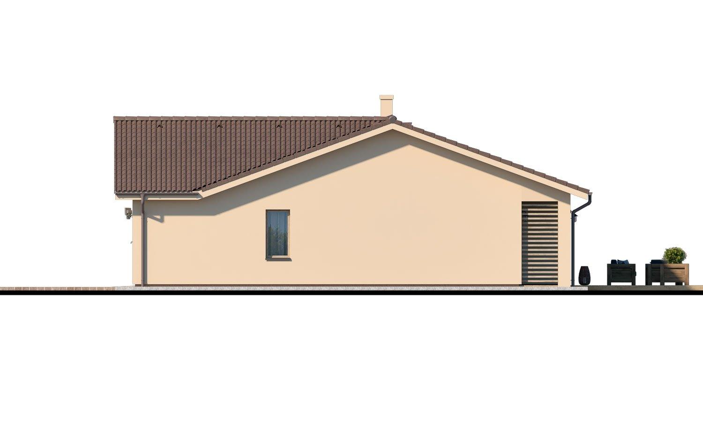 Pohľad 2. - Veľký 4-izbový bungalov s dvojgarážou a terasou, prístupnou so všetkých obytných miestností.