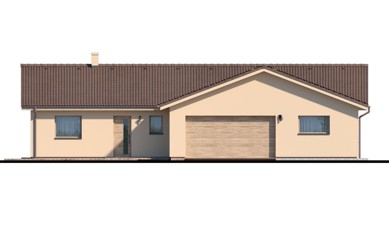 Pohľad 1. - Veľký 4-izbový bungalov s dvojgarážou a terasou, prístupnou so všetkých obytných miestností.