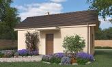Lacný dom na úzky pozemok, vhodný na záhradný domček, alebo chatu
