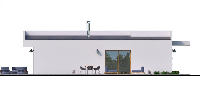 Pohľad 4. - Moderný 4-izbový murovaný rodinný dom s plochou strechou, možnosť realizácie s valbovou, alebo sedlovou strechou