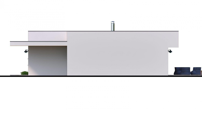 Pohľad 2. - Moderný 4-izbový murovaný rodinný dom s plochou strechou, možnosť realizácie s valbovou, alebo sedlovou strechou