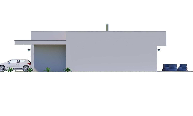 Pohľad 2. - Moderný 4-izbový murovaný rodinný dom s plochou strechou. Možnosť realizácie s valbovou, alebo sedlovou strechou.