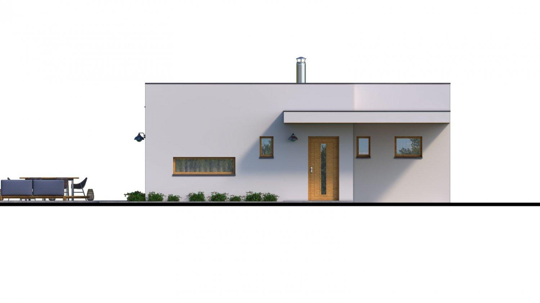 Pohľad 1. - Moderný 4-izbový murovaný rodinný dom s plochou strechou, možnosť realizácie s valbovou, alebo sedlovou strechou