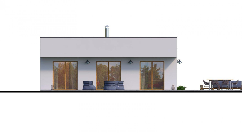 Pohľad 3. - Moderný 4-izbový murovaný rodinný dom s plochou strechou, možnosť realizácie s valbovou, alebo sedlovou strechou