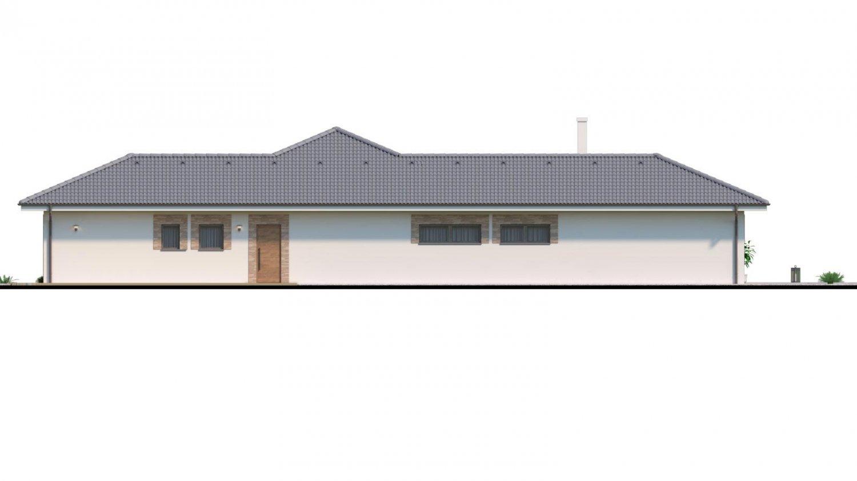 Pohľad 2. - Dom roka 2018 - projekt murovaného domu do tvaru L s átriom, dvojgarážou a možnosťou pristavať naviac 2 izby.