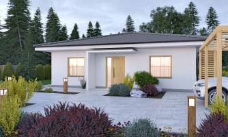 Krásny 5-izbový murovaný bungalov s valbovou strechou a krbom, možná zmena na dom so sedlovou strechou