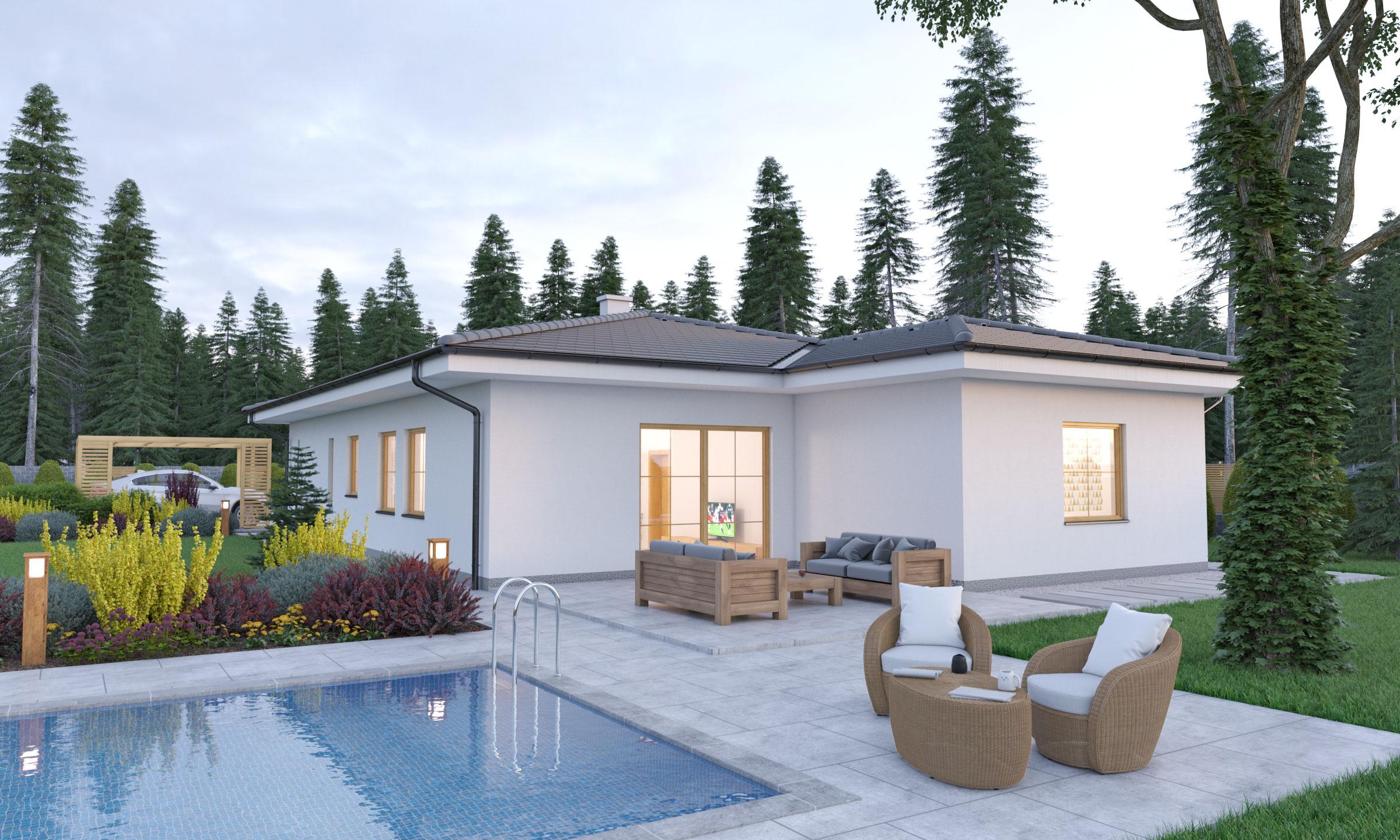 projekt domu BUNGALOW 207